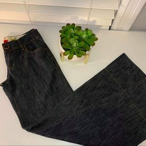 Anthropologie Level 99 Wide Leg Denim Trousers 25